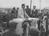 Položenie základného kameňa firmy Matador 7. septembra 1947 - reční povereník (minister) priemyslu a obchodu Dr. Ján Púll