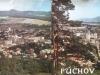Dvojitý pohľad na mesto Púchov zachytený farebne z Lachovca  v r. 1970