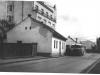Budova tzv. Rožáku na prelome 40. a 50. rokov (pohľad od  dnešnej Ul. 1. mája)