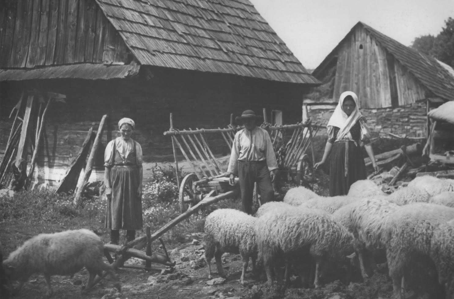 Obyvatelia Púchovskej doliny s takmer celým svojim majetkom na zač. 20. storočia