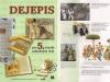 Učebnica dejepisu pre 5. ročník ZŠ, kde sú na fotografii zachytení členovia FS Váh z Púchova pri pálení Moreny (Autor fotografie: P. Hudák)