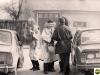 Pochod masiek Moravskou ul. v Púchove v roku 1992