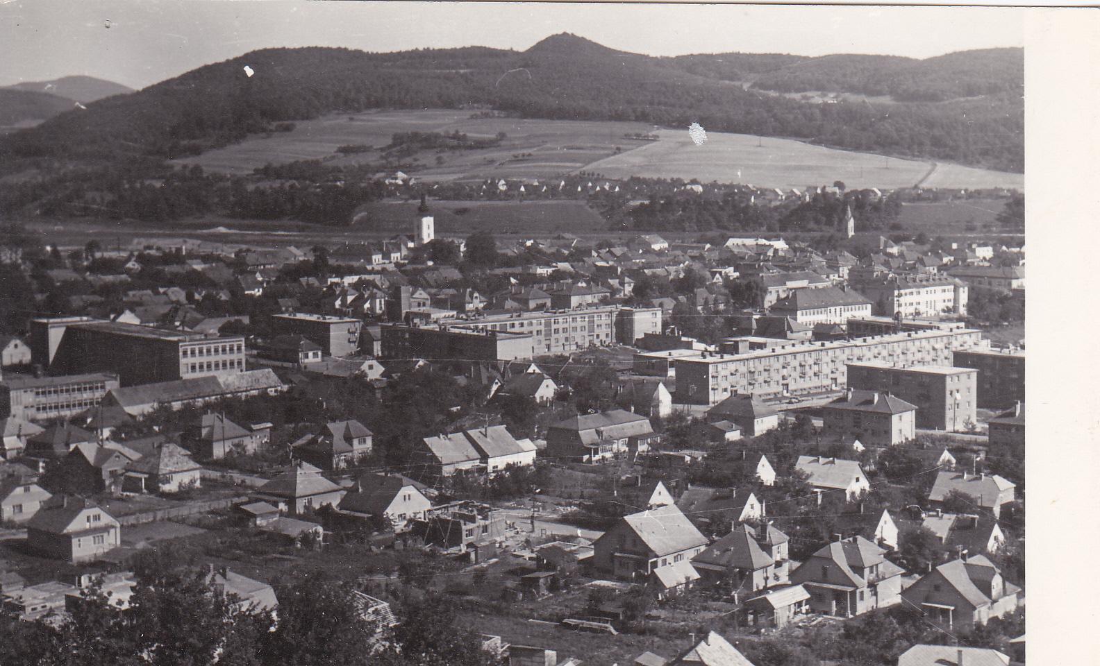 Púchov z Lachovca v r. 1965