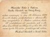 Svadobné oznámenie Márie Piškovej z Púchova a Janka Slezáčka zo Starej Turej z r. 1895 v slovenčine