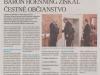 "Možno aj vy ste dostali do schránok ""Naše novinky 18/2014"": návrat k udeleniu čestného občianstva in memoriam barónovi Hoenningovi a naša osvetová činnosti k tejto téme."