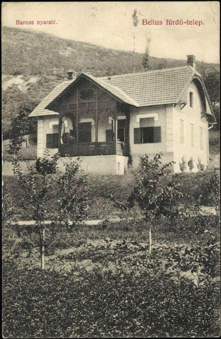 Barošova vila v Beluš. Slatinách - pomenovaná podľa (Gabriela/Gábora) uhorského ministra dopravy a verejných prác i ministra obchodu z Pružiny