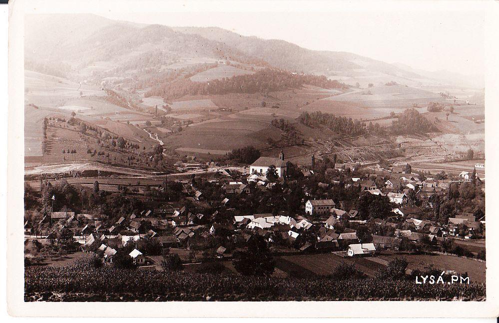 pohľad na obec Lysá pod Makytou v r. 1938