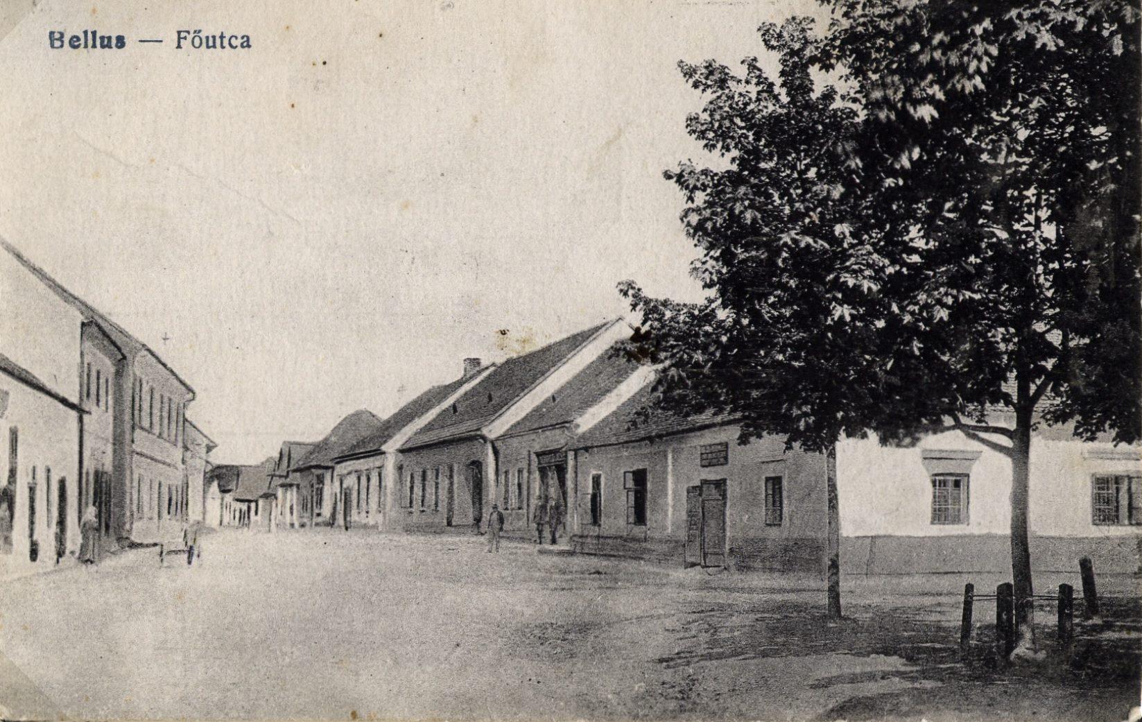 Dnešná Štefánikova ulica v Beluši na zač. 20. storočia