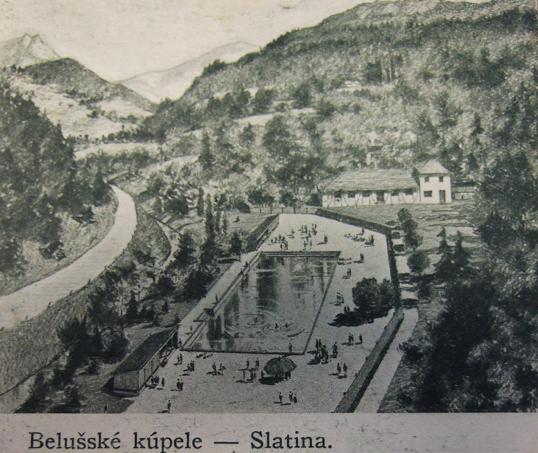 Kreslené kúpalisko v Belušských Slatinách v 1. polovici 20. storočia (S. Kopencová)