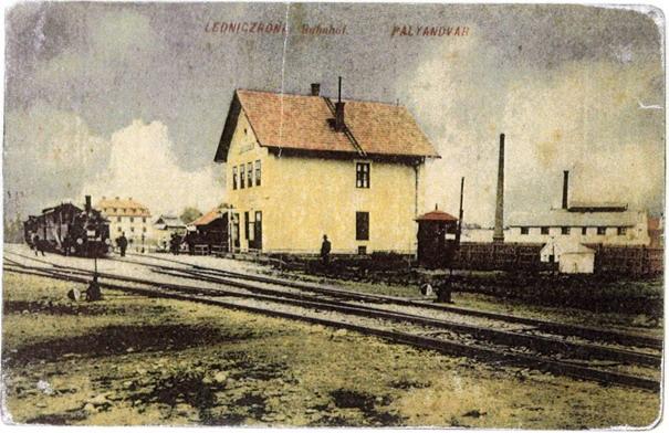 Železničná stanica v Lednických Rovniach v období R-U monarchie