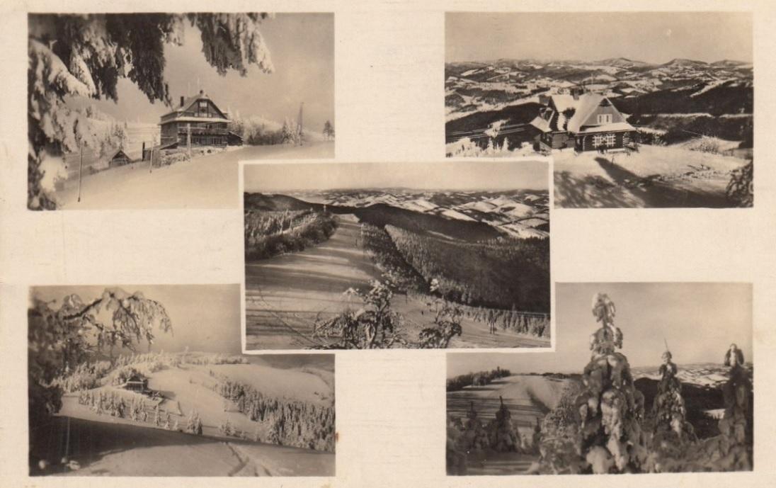 Zimná idylka na hrebeni Javorníkov a zároveň štátnej hranici Slovenskej republiky s Protektorátom Čiech a Moravy v roku 1940