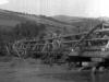 Most a povodeň v Lúkach (na hornom konci) v roku 1939