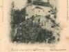 Kaplnka Sv. Anny na pomedzí Lednických Rovní a Dolnej Breznice na pohľadnici poslanej 17. júna 1900 - dávne pútnické miesto, ktoré je dnes venované najmä starým rodičom.