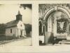 Kostolík v Belušských Slatinách zasvätený Božskému Srdcu Ježišovmu na pohľadnici z roku 1937