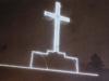 V roku 1937 bol na Kohútke postavený tento drevený kríž, ktorý bol osvetlený vďaka elektrine z Přerov. Nanešťastie koncom 2. svetovej vojny v roku 1945 zhorel...