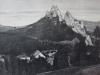 Obec Lednica so skalnatým bralom a hradom na prelome 19. a 20. storočia
