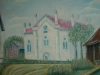 Maľba synagógy v obci Lúky, ktorá bola zničená na jar roku 1945