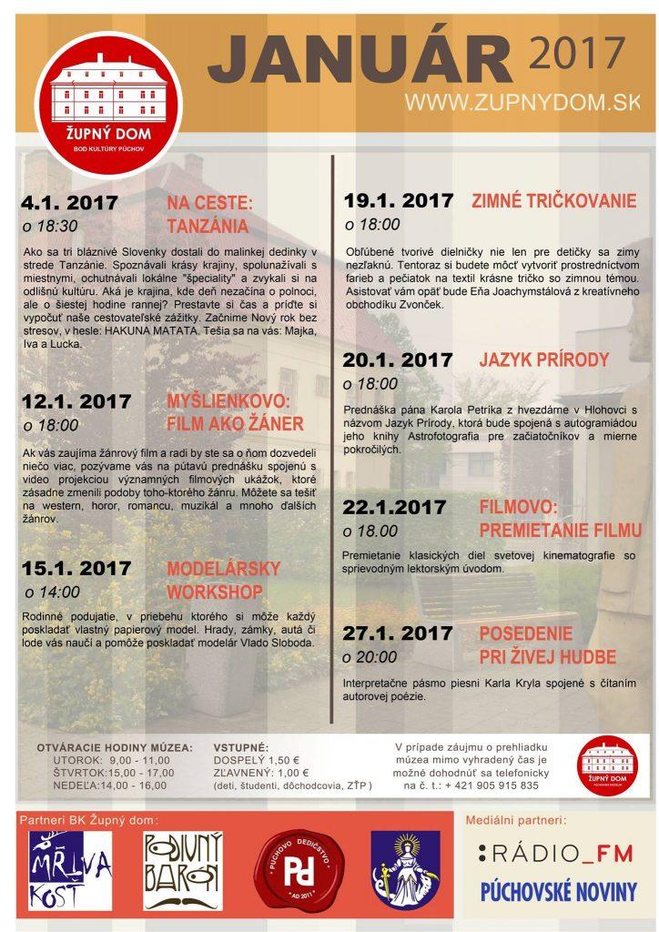 JANUÁR 2017 v BK_ŽUPNÝ DOM @ Slovensko