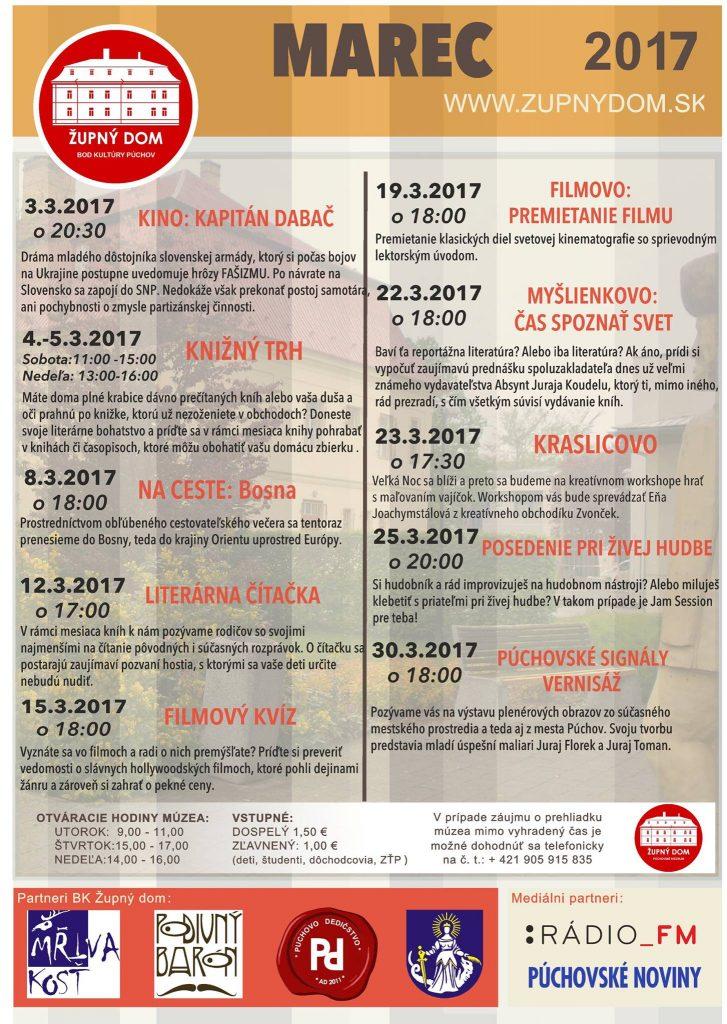 PROGRAM BK_ŽUPNÝ DOM - MAREC 2017 @ Slovensko
