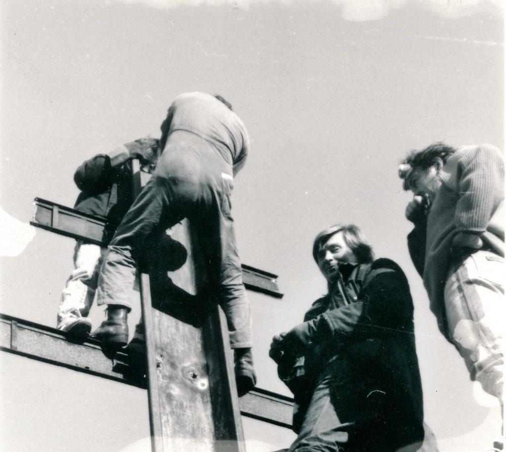 1989 odstránenie hviezdy nad priehradou v Nosiciach 2