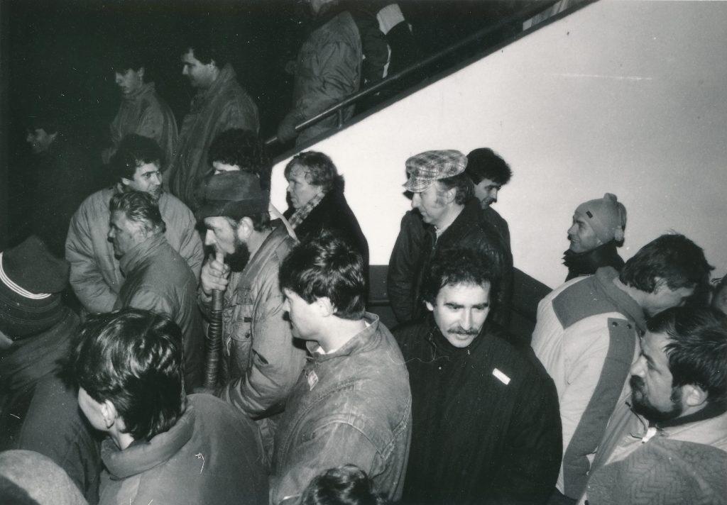 3 VPN Púchov, 1989.11.27 na futbalovom štadióne 2, foto Štefan Filiač