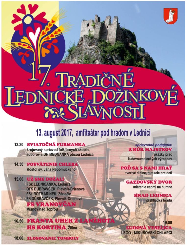 XVII. TRADIČNÉ LEDNICKÉ DOŽINKOVÉ SLÁVNOSTI @ Lednica | Slovensko