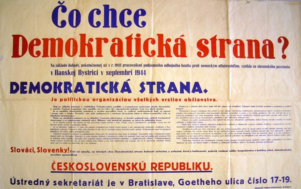 DS plagát 1945