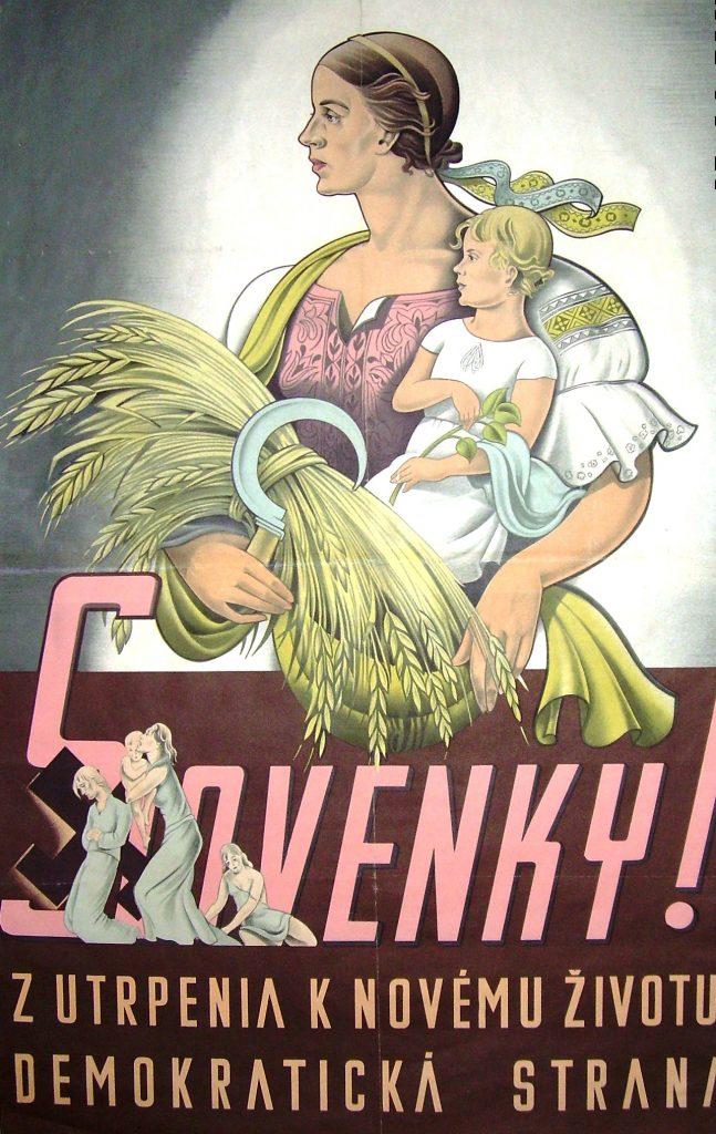 DS predvolebný plagát 1946 (1)