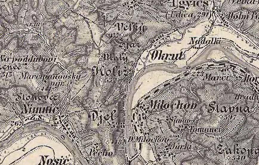 Mapa Okrut